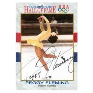 Peggy Fleming Autographed/Hand Signed card (Figure Skating)