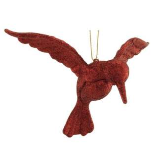 Holiday Time Brilliant Red Hummingbird Christmas Ornament Christmas