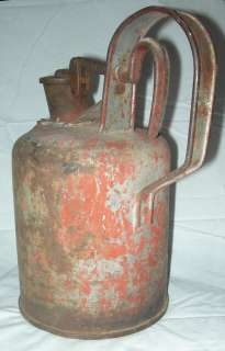 Antique Geo Diener Mfg Co Protection Safety Oil Gas Fuel Solvent Can