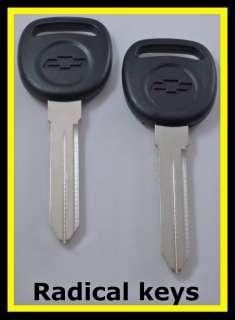Chevrolet Chevy MALIBU Key Blanks 1997 1998 1999 OEM