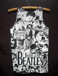 New Beatles singlet tank top shirt pop rock band tour 36 SIZE M