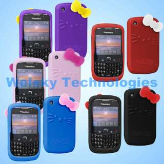 Hello kitty silicone soft case for Blackberry curve 8520 back