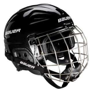 Bauer Lil Sport Youth Hockey Skiing Skating Helmet WITH CAGE Bk or Wht