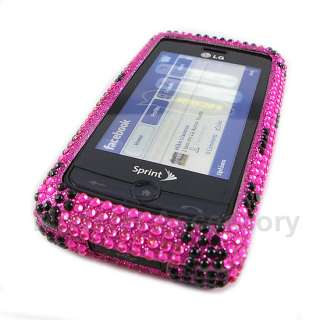 Pink Leopard Bling Hard Case Cover For LG Banter Touch