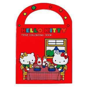 Hello Kitty Mini Coloring Book Red Toys & Games