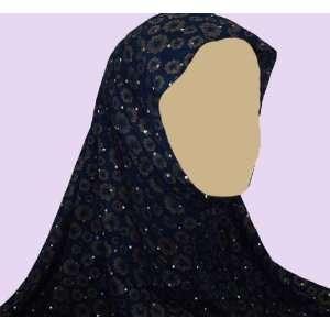 Dark Blue Floral 1 Piece Al Amira Hijab