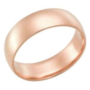 7.0 Millimeters Rose Gold Heavy Wedding Band Ring 18kt