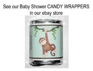 15 Monkey Jungle Baby Shower Favors Magnets