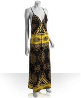JB by Julie Brown navy aztec printed jersey Olivia maxi dress