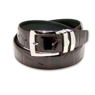 BURGUNDY Bonded Leather Belt Silver Tone Buckle size 44