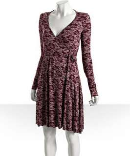 Rachel Pally dragonfly lace print jersey wrap dress   up to 70
