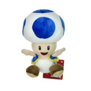 Nintendo Super Mario Bros. Wii Plush Toy   6 Blue Toad