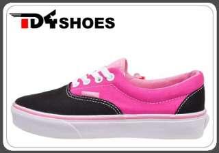 Vans Era 2 Tone Black Pink Classic Unisex Casual New Skate Shoes VN
