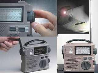 TECSUN GREEN 88 Dynamo Hand Cranking FM/AM/SW RADIO