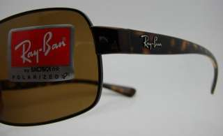 Authentic RAY BAN Polarized Brown Sunglasses 3379   014/57 *NEW