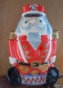 Large Vintage Ceramic Cookie Jar Toy Soldier / Nutcracker 11 Gibson H