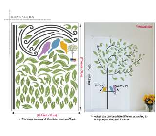 WINDY TREE ★ ART MURAL PEEL & STICK DECALS WALL STICKER
