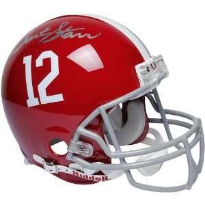 NCAA Riddell Alabama Crimson Tide #12 Bart Starr Autographed Full Size