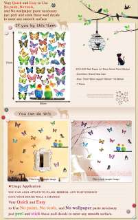 ECO 020 BUTTERFLY Wall Paper Art Decal Deco Sticker ★★★