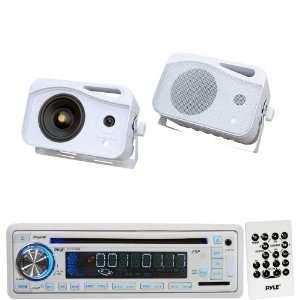 Pyle Marine Radio Receiver and Speaker Package   PLCD35MR