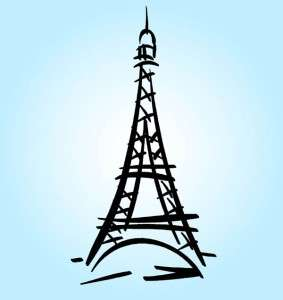 19x36 Vinyl Wall Art Decor Eiffel Tower Paris France Decal Sticker