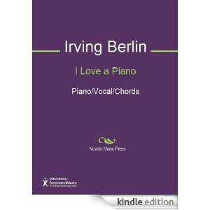 Love a Piano Sheet Music (Piano/Vocal/Chords) Irving Berlin
