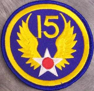 Embroidered Military Patch 15th Air Force NEW