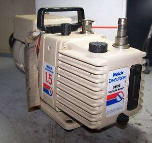 WELCH VACUUM PUMP MODEL 8905A 1/6 HP 115/230 VOLT