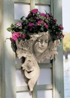 Art Nouveau French Lady Wall Sculpture Greenman