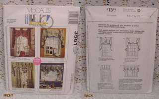 ASSORTED WINDOW TREATMENT PATTERNS CURTAINS, SEWING PATTERNS FOR