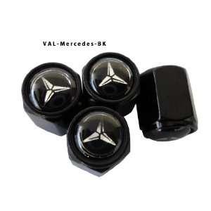 AGT Aluminum Black Valve Caps Tire Cap Stem for Mercedes Wheels (Pack