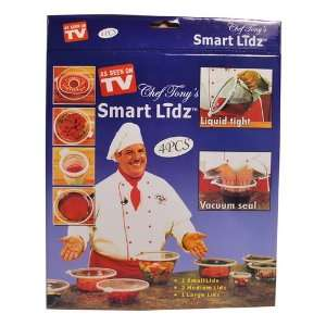 Set of 4 Chef Tonys smart lidz TV shopping pack Kitchen