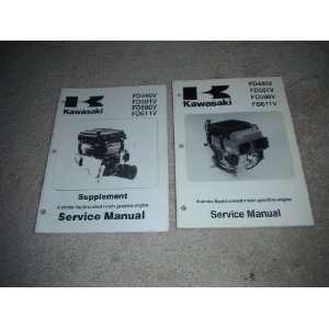 twin Gasoline Engine Service Manual & Supplement kawasaki heavy